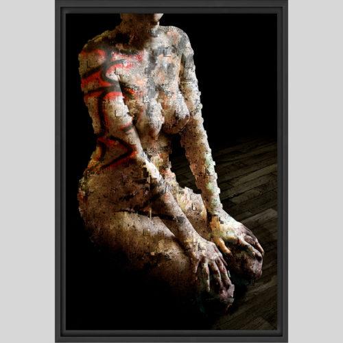 Urban Kneeling - oeuvre encadrée- (G.Dumas)